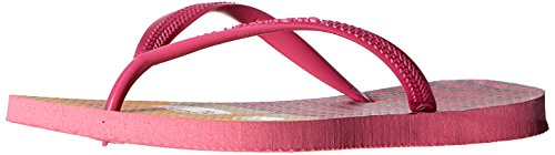 Havaianas Kids Slim Fashion Sandal Flip Flops (Toddler/Little Kid), Shocking Pink, 29-30 BR(13, 1 M US Little Kid)