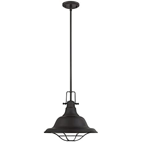 Trade Winds TW021337ORB 1 Light Industrial Pendant In Oil Rubbed Bronze