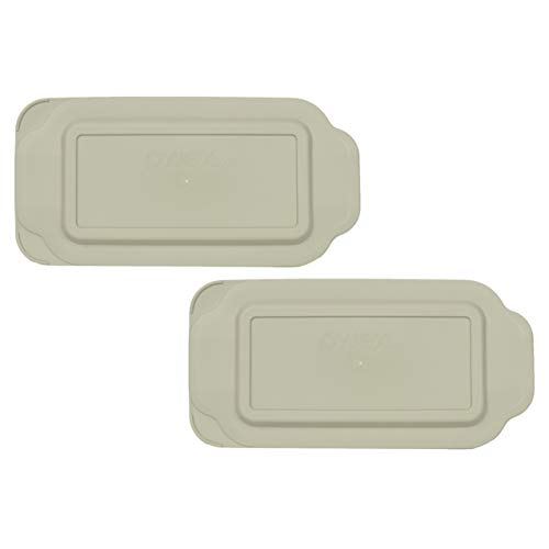 Pyrex 213-PC 1.5 Quart Gray Rectangle Plastic Replacement Lid Cover for Loaf Pan - 2 Pack
