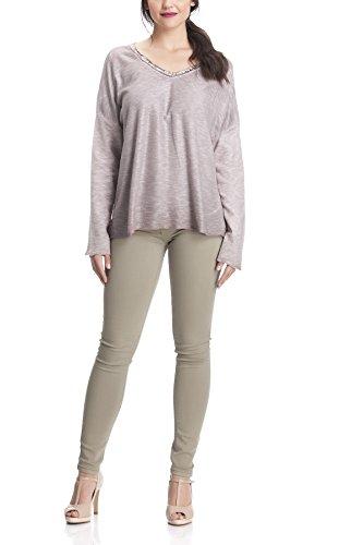 Laura Moretti - Suéter o Jersey fino estilo oversized con lentejuelas Rosa