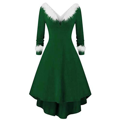 Womens Velvet Casual Short/Long Sleeve Peter Pan Collar Flare Skater Short Dress Green (David Meister Strapless Dress)