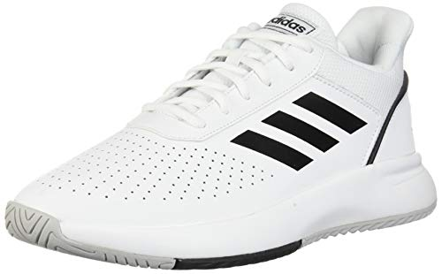 Adidas Men's Courtsmash Ankle-High Fashion Sneaker (White/Black, 10.5)