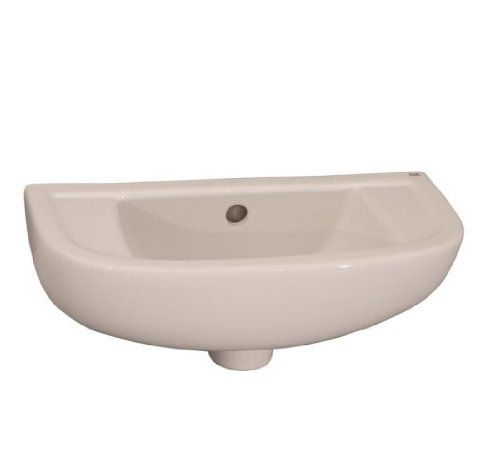 4 Vitreous China - Barclay 4L-561WH Compact 18-Inch Slim Line Basin with 1 Hole Left