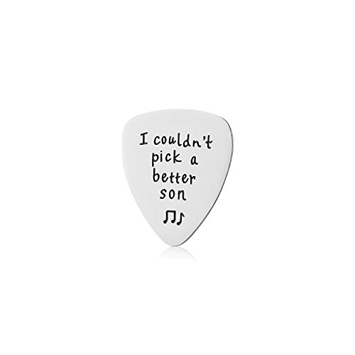 WIGERLON Guitar Picks Engraved I Couldn't Pick A Better Son:Best Son Gifts from Mom Dad