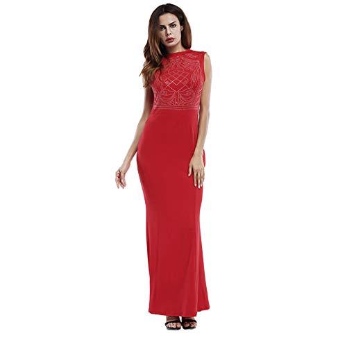 Sleeveless hot Drilling Dress Slim Thin Bag Hip