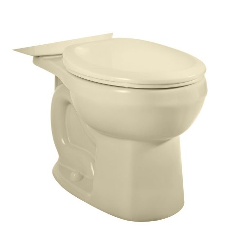 American Standard 3708.216.021 H2Option Siphonic Dual Flush Round Front Toilet Bowl, Bone (Bowl Only) ()