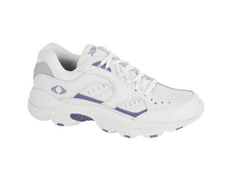 Apex Women's V854W Athletic Walking Shoe,White/Periwinkle,9.5 M US by Apex