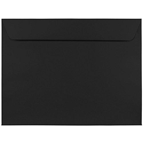 JAM PAPER 9 x 12 Booklet Premium Envelopes - Smooth Black - 25/Pack