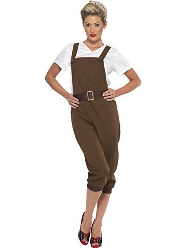 Smiffy's Women's Ww2 Land Girl Costume, Brown, Large