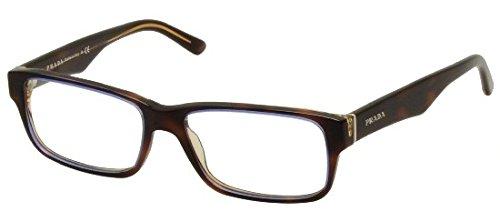 Eyeglasses Prada PR 16MV ZXH1O1 TORTOISE DENIM DEMO LENS ()