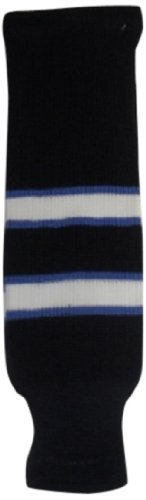 fan products of DoGree Hockey Winnipeg Knit Hockey Socks, 28-Inch, Blue/White