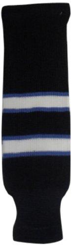 DoGree Hockey Winnipeg Knit Hockey Socks 20-Inch Blue//White HKS-WINN