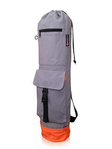 ZenGear Yoga Mat Bag with Cargo Pocket - Yoga Bags for Men & Women - Best Yoga Bag for Mat