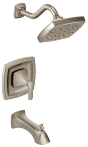 Voss Tub and Shower Faucet Body Only Set without trol Shower Valve, Brushed Nickel - Moen T3693BN