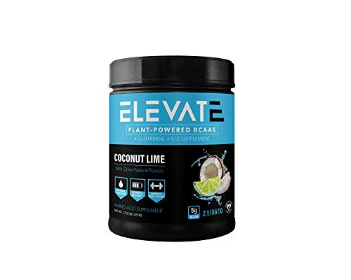 Cheap Elevate Nutrition Plant-Based Vegan BCAA Supplement for Muscle Building and Hydration- Energy Booster- All-Natural Food-Sourced BCAA 2:1:1 Ratio- Glutamine, B12, Non-GMO