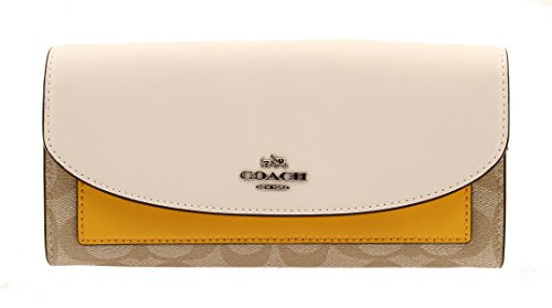 COACH Slim Envelope Wallet In Colorblock Signature Coated Canvas, F56494