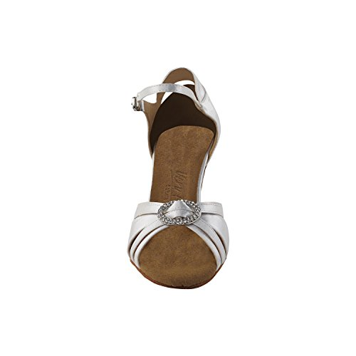 Scarpe Piccione Oro Scarpe Da Festa Festaioli, Pompe Comfort Da Sera: Scarpe Da Ballo Da Donna Con Tacco A Spillo 1154 - Raso Avorio