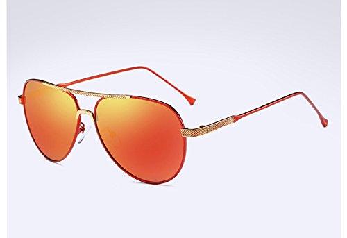 el negro red Hombre oro HD TL polarizadas clásico en gris aluminio Mujer orange UV400 Sunglasses gafas Unisex fqxFwnOTP1
