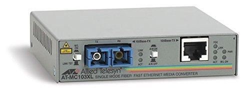 Allied Telesis AT-MC103XL-60 AT MC103XL - Fiber media converter - 100Mb LAN - 100Base-FX, 100Base-TX - SC single-mode/RJ-45 - up to 9.3 miles - 1310 (100 Mb Single)