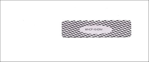 WHCF10ENV - ICD-10 Medical Claim Form Envelope - Small Gummed Right Window (1000 Ct) by twiHealthcare