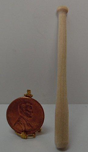 [Dollhouse Miniature 1:12 Scale Timberbrook Wooden Baseball Bat] (Scale Baseball)