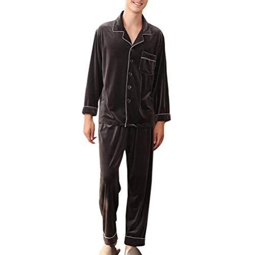 Estate E Due Ragazzi Lungo Pezzi Del Classiche Pigiama Top Grigio Pantaloni Da Set Primavera Comodo Homewear Moda Uomo YxgOIOqA