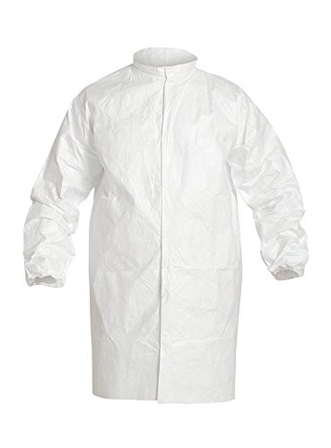 DuPont Tyvek IsoClean IC263S Snap Front Frock, White, Large (Pack of 30) by IsoClean (Image #2)