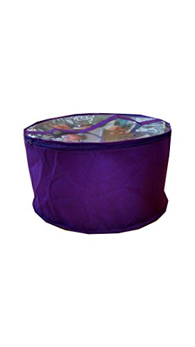 Collapsible Fabric Hat Box(Purple Large)