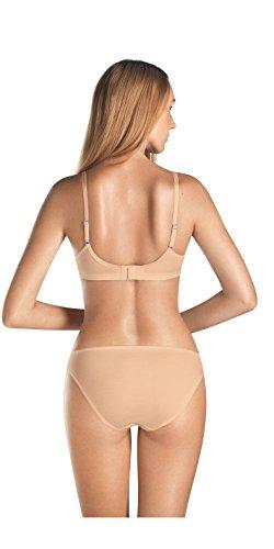 HANRO Women's Cotton Seamless Soft Cup Bra 71616, Skin, 34 A