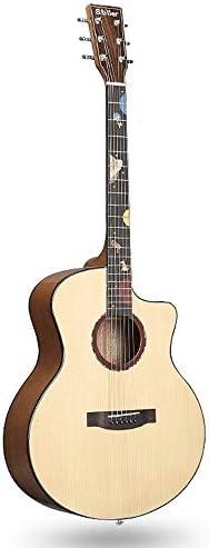 ギター 初心者Professionalのフルサイズのアコースティックギターとローズウッド指板 入門 ギター (Color : Natural, Size : 41 inches)
