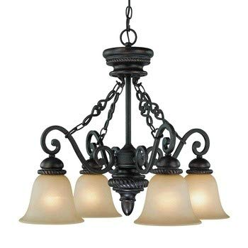 - Craftmade Lighting 25224-MB Highland Place - Four Light Down Chandelier, Mocha Bronze Finish
