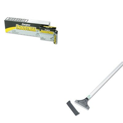 KITEVEEN91UNGLH12C - Value Kit - Unger Light-Duty Scraper w/48amp;quot; Handle (UNGLH12C) and Energizer Industrial Alkaline Batteries (EVEEN91)