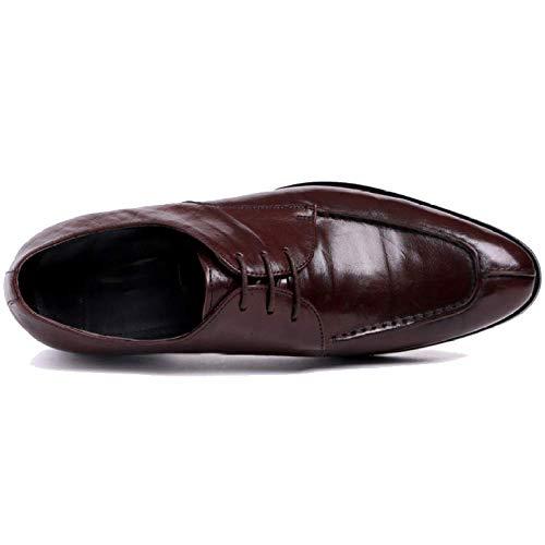 Top Britannico Scarpe Scarpe Reddishbrown in da da Business Pelle Low Uomo Stile Uomo Scarpe Stringate qTPw87pq