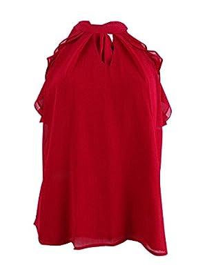 Miss Chievous Juniors' Ruffled Tie-Back Top