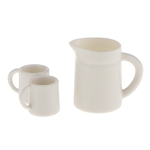 DYNWAVE Handmade Mini Tea Coffee Cups Kettle Mugs Set for Dolls House Any Rooms Decor. DIY Crafts Supplies