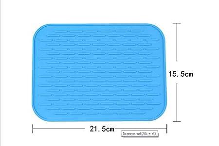 Heat Insulation Baskety SiliconeTrivet Mat Pack 2 5X6 Big Silicone Pot Holder Drying Baking Gadget Kitchen Table Mat Waterproof Non-Slip,Tableware Pad Coasters,Dishwasher Safe Black