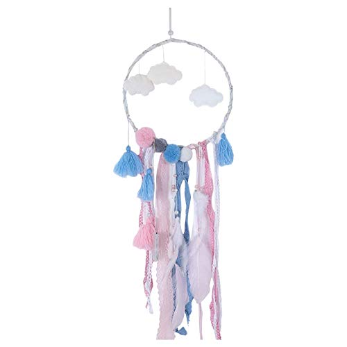 Clacce Traumfänger Handgefertigt, Feder Dream Catcher Dreamcatchers Auto Home Wandbehang Dekoration für Baby Shower Car Hochzeit Decor Geschenk