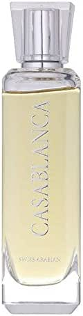 Casablanca, Eau de Parfum (100mL) | Sweet Gourmand Fragrance Built Around Amber, Peru Balsam, Musk, Suede and Liquid Caramel | for Men and Women | by Oud Perfume Artisan Swiss Arabian | Cologne Spray
