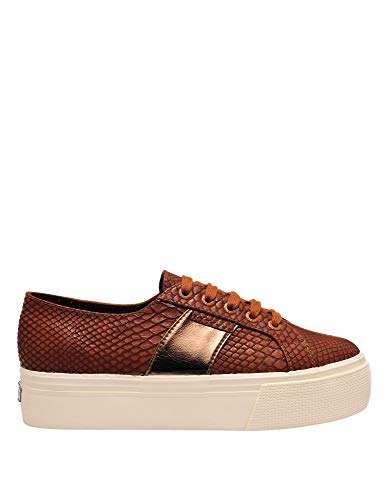 Brown Snake 41 Superga In Sneakers Pu 2790 Women's Size xqzXwC6