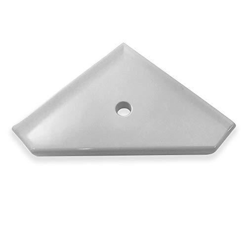 (Questech Geo Shower Corner Shelf 8 inch Bathroom Shower Shelf | Wall Mounted Corner Shelf Shower Caddy (Cool Gray))