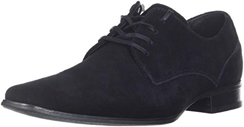 (Calvin Klein Men's Brodie Oxford Shoe, Black Calf Suede, 10 M US)
