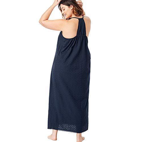 b0ab3efff Dreams   Co. Women s Plus Size Breezy Eyelet Knit Long Nightgown - White