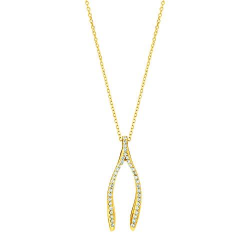 Yellow Gold Diamond Wishbone - 6
