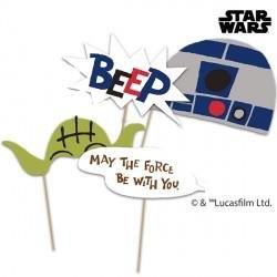 Star Wars Photo Props (Procos Q78386 Star Wars Paper Cut Party Photo)