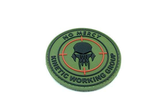 No Mercy kinectic Groupe de travail en PVC Vert Patch Airsoft