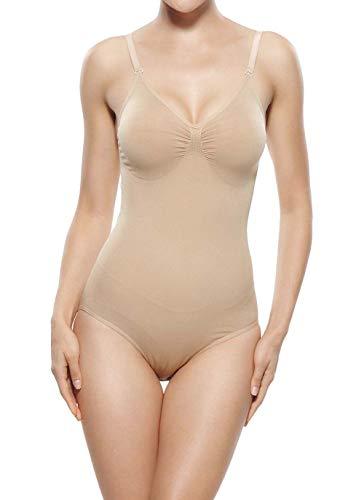Suktat Women's Tank Top Bodysuit Shapewear Leotard Tummy Body Shaper Nude ()