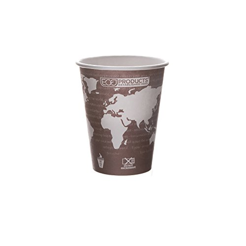 Eco-Products - Renewable & Compostable Hot Cups - 8 oz. Coffee Cup - EP-BHC8-WA (20 Packs of 50) - Eco Products Hot Cup
