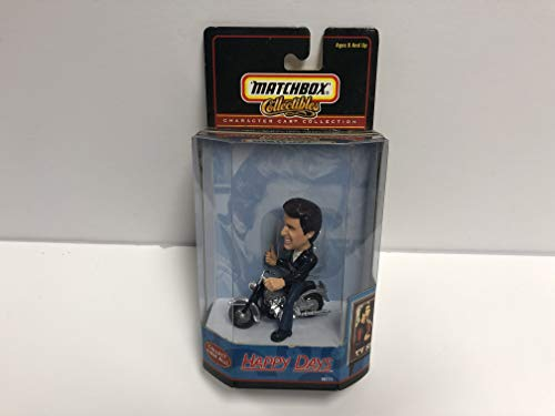 Happy Days THE FONZ Matchbox Collectibles Character Car Collection on his Motorcycle