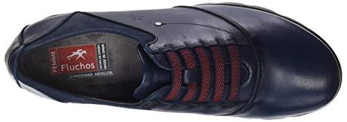 Oceano de para Fluchos Cordones Derby Oceano Nobuck Zapatos Susan Mujer Azul Sugar awwv7qX