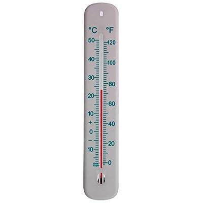 215mm Blanc Thermomètre mural C & F–Idéal pour la maison, bureau, jardin et serre–Peut être utilisé en intérieur et en extérieur